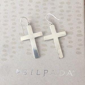 """Silpada Jewelry - Silpada Sterling Silver Cross """"Ideal"""" Earrings"""